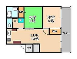 パールマンション[301号室]の間取り