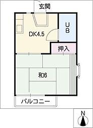 タウニィ130[2階]の間取り