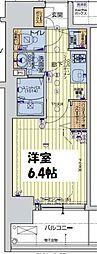 レオンコンフォート阿波座西 3階1Kの間取り