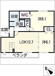 シャロームK[1階]の間取り
