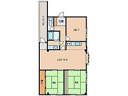マンションニューハマII[2階]の間取り