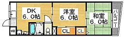 第一三国ヶ丘コーポ[3階]の間取り