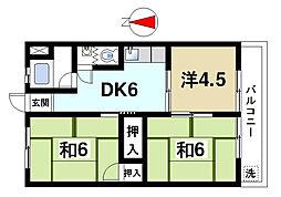 西栄マンション[201号室]の間取り