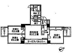 ベルファース大阪新町[20階]の間取り