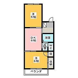 リヴェールJ・VI[2階]の間取り
