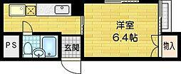 SKBマンション[406号室]の間取り