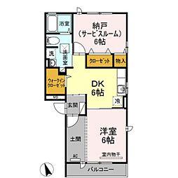 広島県広島市中区吉島西1丁目の賃貸アパートの間取り
