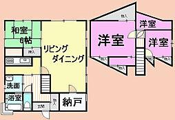 千葉県山武市小松の賃貸アパートの間取り
