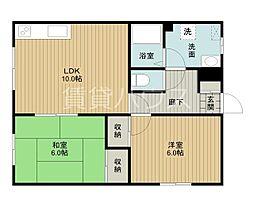 小島マンションA棟[1階]の間取り