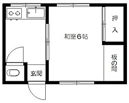 田辺アパート[18号室]の間取り