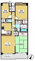 白楽東パークホームズ壱番館[2階]の間取り