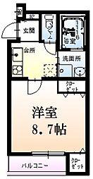阪急神戸本線 西宮北口駅 徒歩14分の賃貸アパート 1階1Kの間取り
