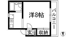 大阪府池田市天神1の賃貸マンションの間取り