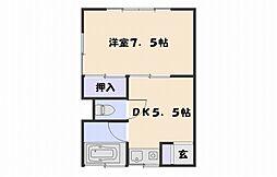 黒坂アパート[101号室]の間取り
