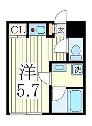 アジュール並木[2階]の間取り