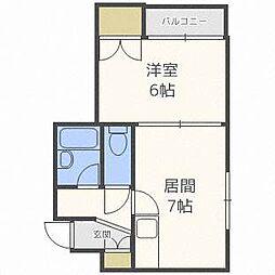 北海道札幌市白石区栄通6丁目の賃貸マンションの間取り