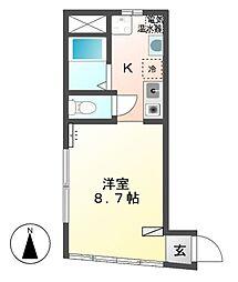 鎌田ビル(居住)[3階]の間取り