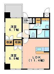 ラ・トゥール箱崎宮前[5階]の間取り