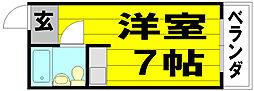 大阪府茨木市豊川2丁目の賃貸アパートの間取り