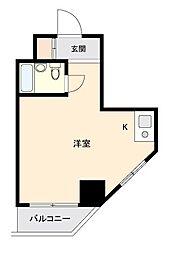 セントエルモ西早稲田[0401号室]の間取り