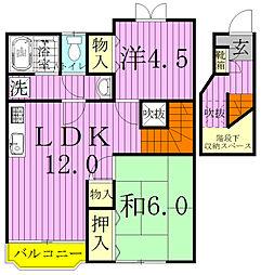 ヴォーヌングI[2階]の間取り