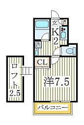 フラット12[1階]の間取り