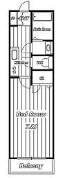 レッドコート[2階]の間取り