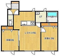 LIFE[1-D号室]の間取り