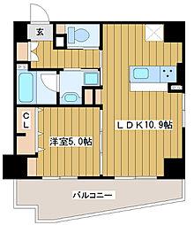 ベラ・ルーナ北梅田[1階]の間取り