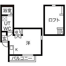 グリュック鳴海[3階]の間取り