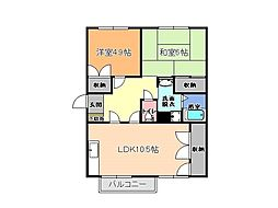 栃木県下都賀郡壬生町大字安塚の賃貸アパートの間取り