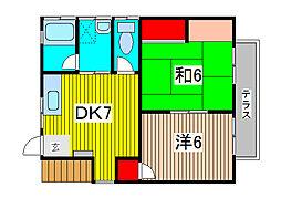 Kハイツ[1階]の間取り