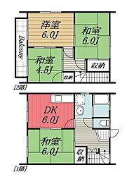 [テラスハウス] 千葉県四街道市千代田5丁目 の賃貸【/】の間取り