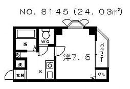 ライスフィールド上町台東[2階]の間取り