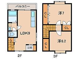 マンション・センターフィールド[2階]の間取り