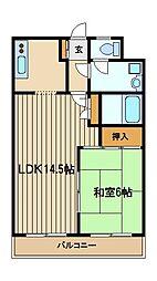 第三平野ハイツ[1階]の間取り
