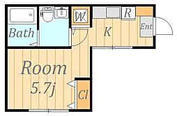 メゾンド リコ[1階]の間取り