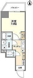 都営大江戸線 蔵前駅 徒歩7分の賃貸マンション 3階1Kの間取り