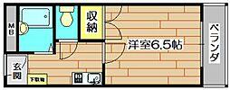 宮元7番館[1階]の間取り