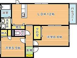 ユタカの里 A棟[2階]の間取り