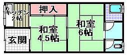 [テラスハウス] 大阪府泉大津市曽根町1丁目 の賃貸【/】の間取り