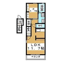 ハマユウ石神沢I[2階]の間取り