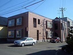 北海道札幌市清田区平岡三条4丁目の賃貸アパートの外観