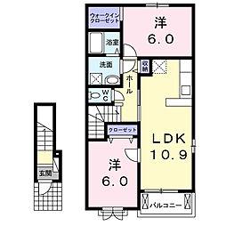 セカンドアクア[2階]の間取り