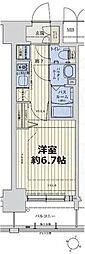 スワンズシティ新大阪ヴィーヴォ 11階1Kの間取り