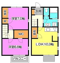 [テラスハウス] 東京都練馬区南大泉2丁目 の賃貸【/】の間取り