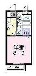 福岡県北九州市小倉北区熊本3丁目の賃貸アパートの間取り