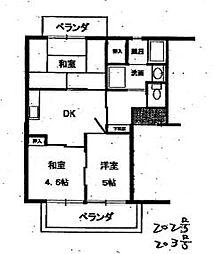 大塚ハイツC棟 2階4DKの間取り