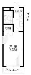 東京都小平市天神町1丁目の賃貸アパートの間取り