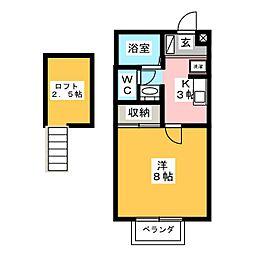 プロシードII[2階]の間取り